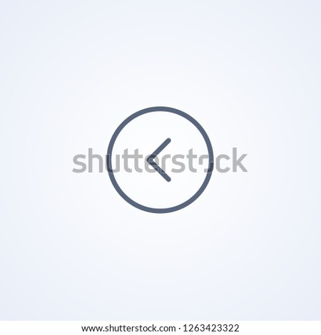Left icon, vector best gray line icon on white background , EPS 10