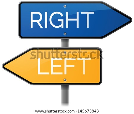 Left or Right Road Sign