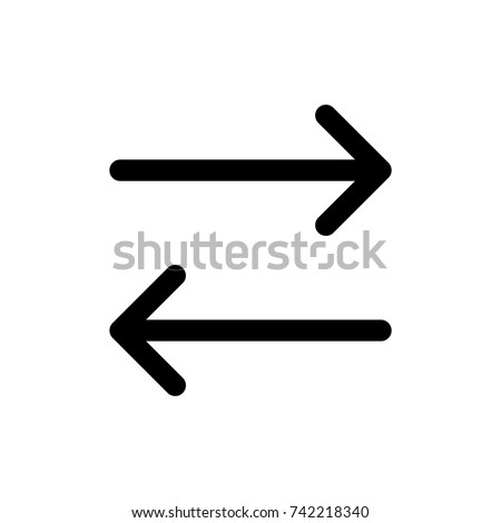 left right arrow icon, arrow icon vector, in trendy flat style isolated on white background. arrow icon image, arrow icon illustration