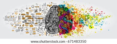 left right human brain concept. ...