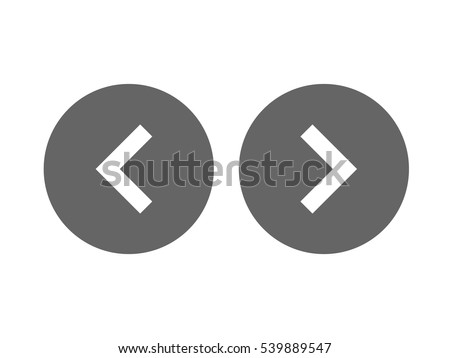 Left right or back next icon button vector