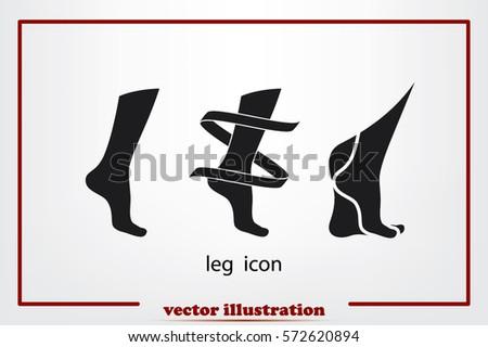 leg icon vector illustration