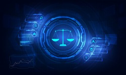 Legal advice technology service concept with business working with modern Ui computer.