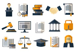 Legal compliance deal protection and copyright regulation. Regulate agreement. Vector illustration