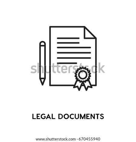 Legal Documents vector icon, certificate symbol. Modern, simple flat vector illustration for web site or mobile app