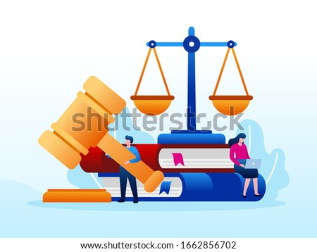 Legal law justice service illustration flat vector template  Foto stock ©