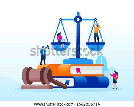 Legal law justice service illustration flat vector template