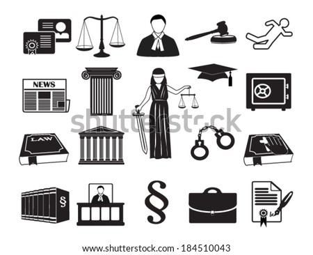Royalty free stock photos and images legal law set icons legal law set icons vector illustration eps 10 isolated on white background reheart Gallery