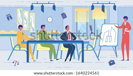 Legal Services in Consulting Companies and Individuals on Property Issues and Assistance in Resolving Land Disputes. Correct Paperwork for Land Estate - Agency or Services. Flat Vector Illustration.