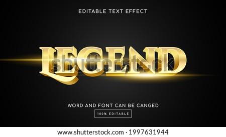 legend 3d editable text effect