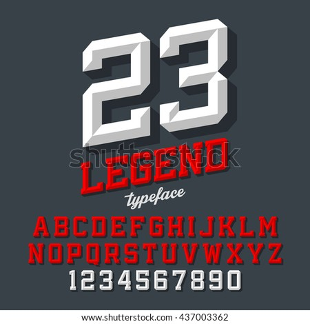 legend typeface beveled sport