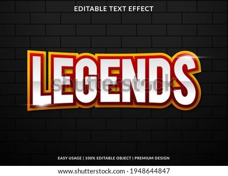 legends text effect template