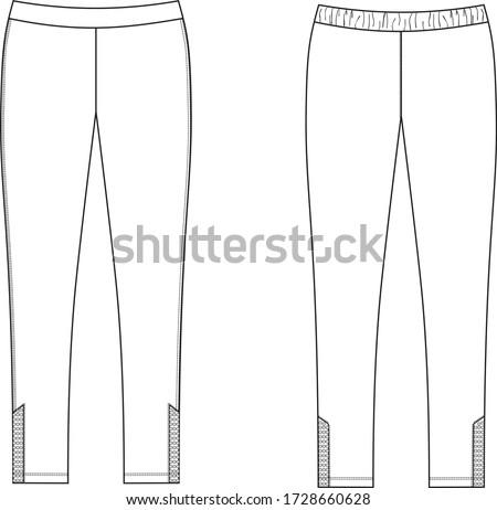 leggings pants fashion vector