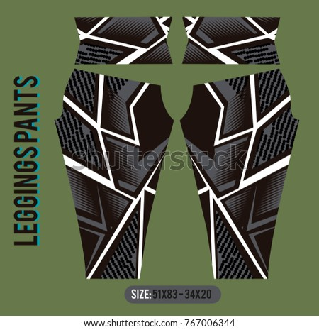 leggings pants fashion vector illustration with mold