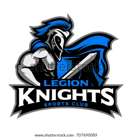 Legion Knight Mascot symbol and art print for gaming and sport team