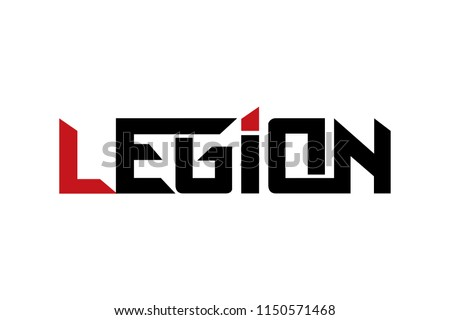 legion typography design vector