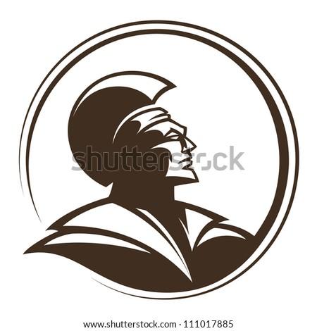 Legionary soldier image. Vector illustration.