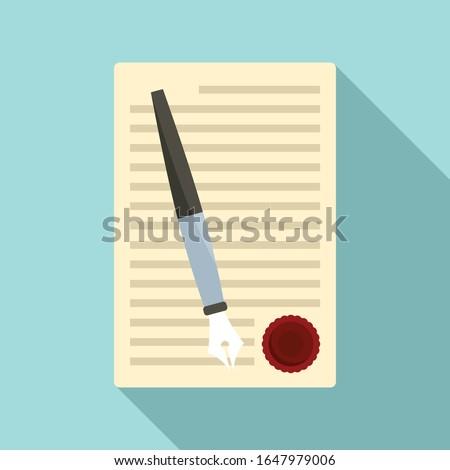 Legislation paper icon. Flat illustration of legislation paper vector icon for web design Photo stock ©