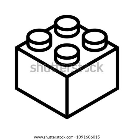 lego brick block or piece line