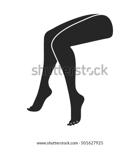 legs icon in black style