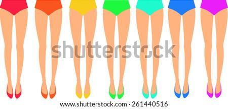legs leg flat flats vector