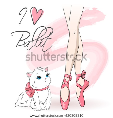 legs of ballerina girl in