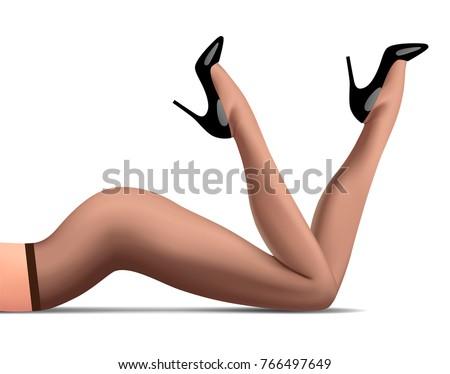 legs of lying woman in dark