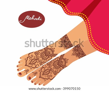 legs with mehendi patterns