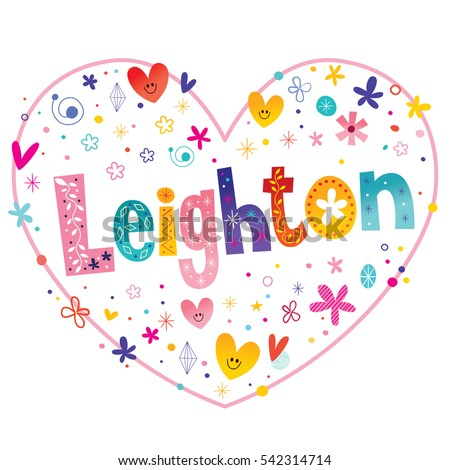 leighton girls name decorative