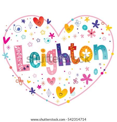 leighton girls name decorative