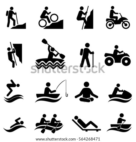Leisure and outdoor recreation activities icon set - Shutterstock ID 564268471