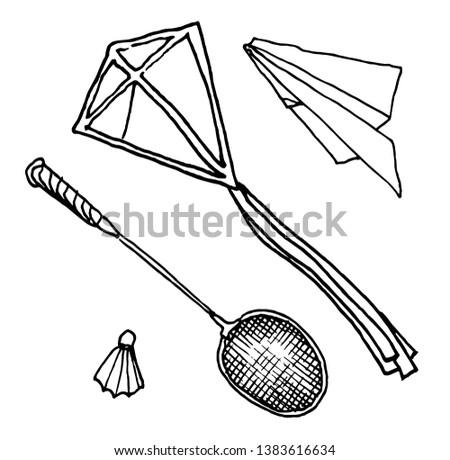 Leisure paper badminton plane leisure Park leisure picnic