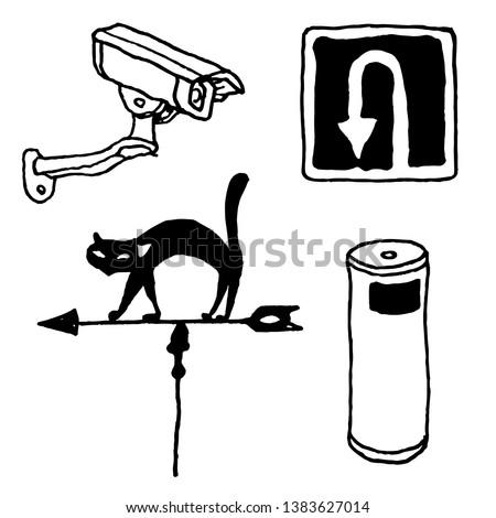 leisure Park leisure picnic street cat weathervane surveillance camera traffic sign trash urn