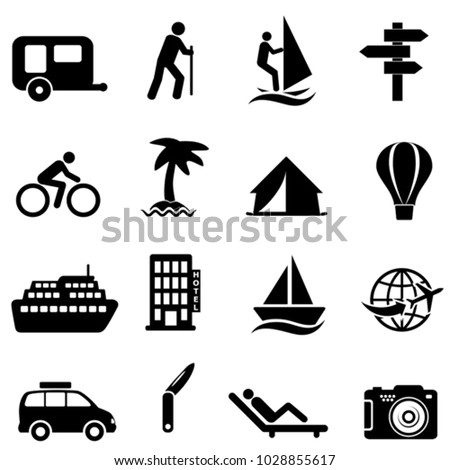 Leisure, recreation and outdoor activity icons
