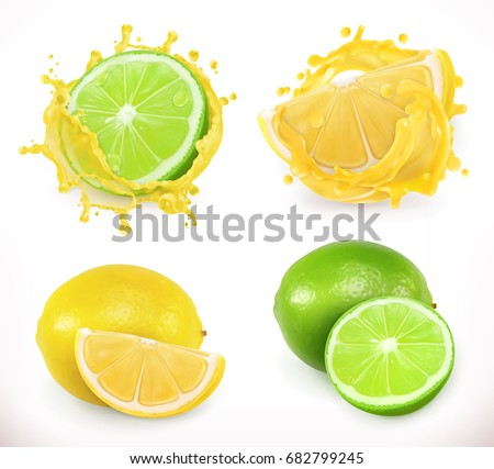 lemon and lime juice fresh