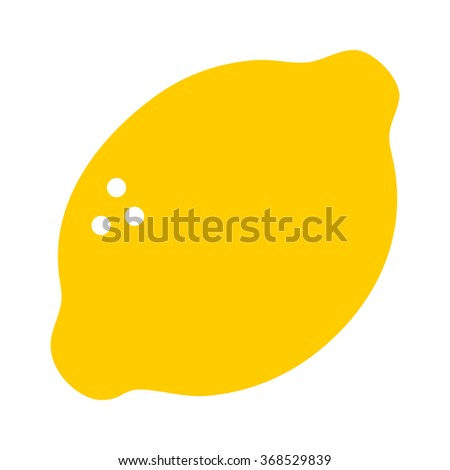 lemon citrus fruit flat color