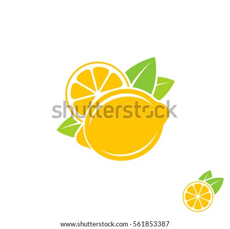 lemon citrus fruit on white