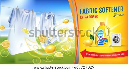 lemon fragrance fabric softener