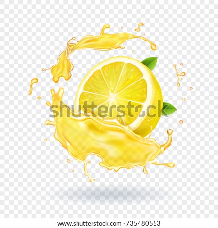 lemon fruit juice splash