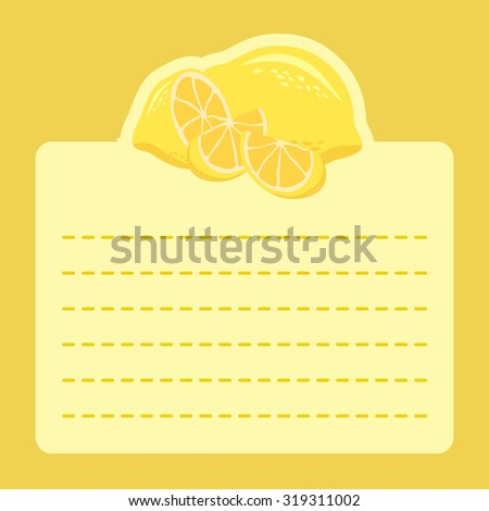 lemon fruit memo notes yellow
