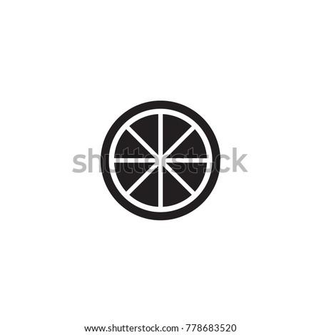 Shutterstock lemon icon. sign design
