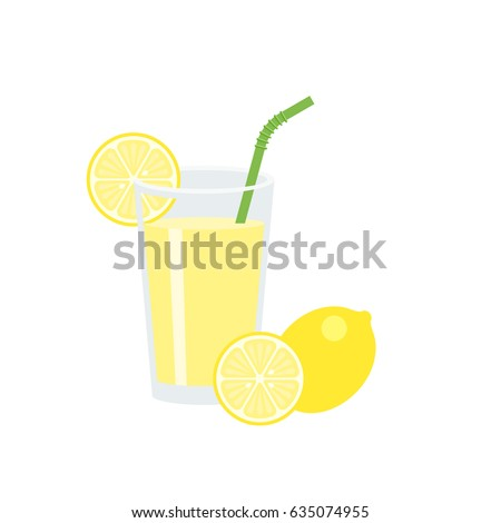 lemon juice in glass with slice