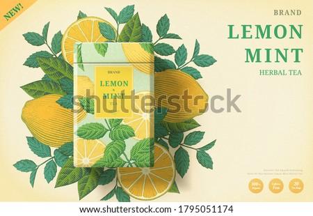 lemon mint tea ads with