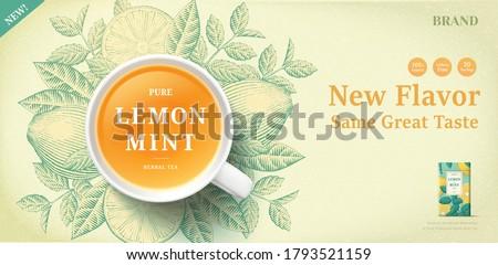 lemon mint tea banner ads with