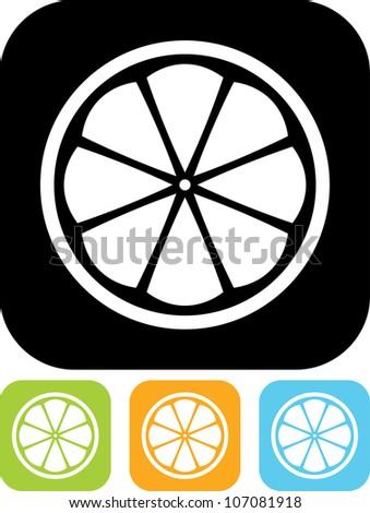 Lemon or citrus slice - Vector icon isolated