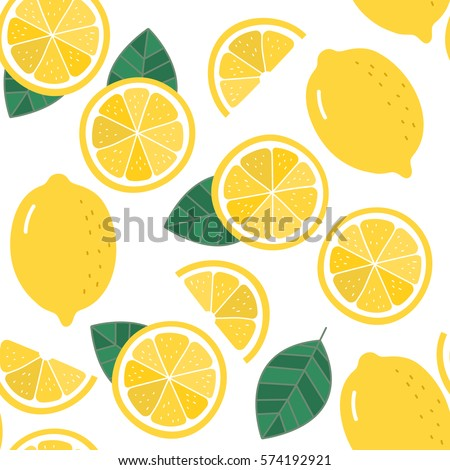 lemon seamless pattern organic