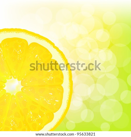 lemon segment with juice and