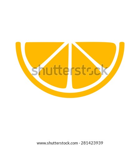 lemon slice citrus flat icon