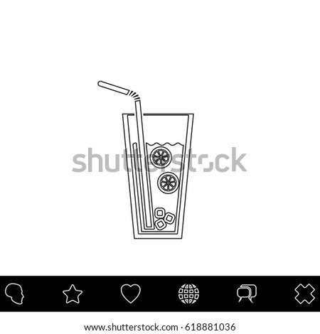 lemonade black outline vector