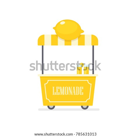 Lemonade cart. Vending machine clipart isolated on white background